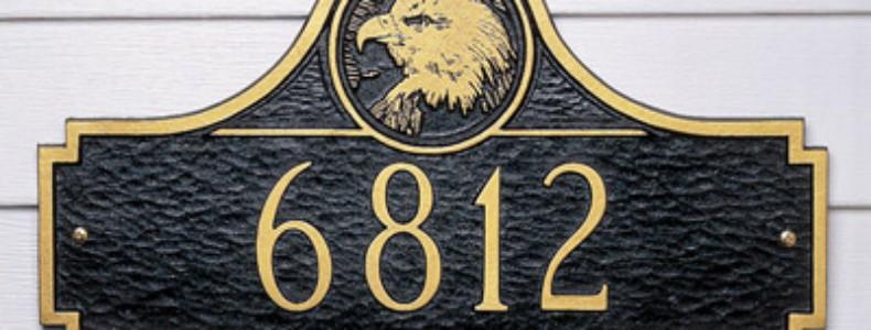 Eagle Medallion Address Plaque