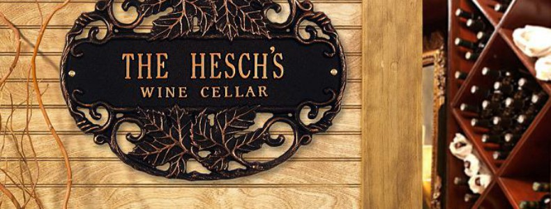 Personalized Wine Cellar Plaque